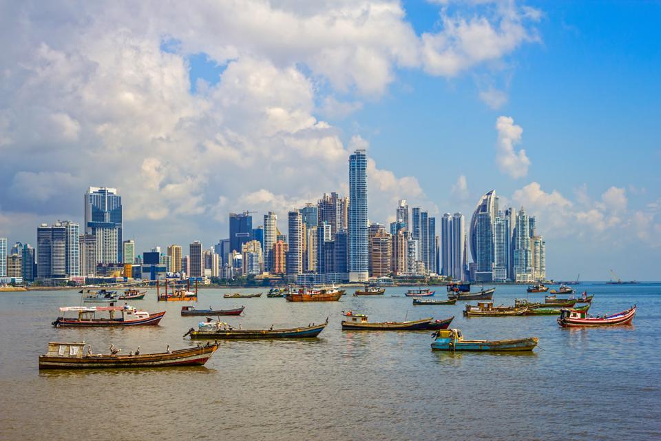 Panama City and Harbor Republic of Panama
