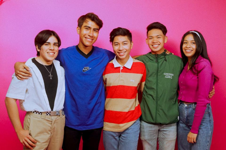 Isaac Hurtado, Gael Aitor, Thomas Pham, Mark Hugo, and Kayla Suarez, are seniors