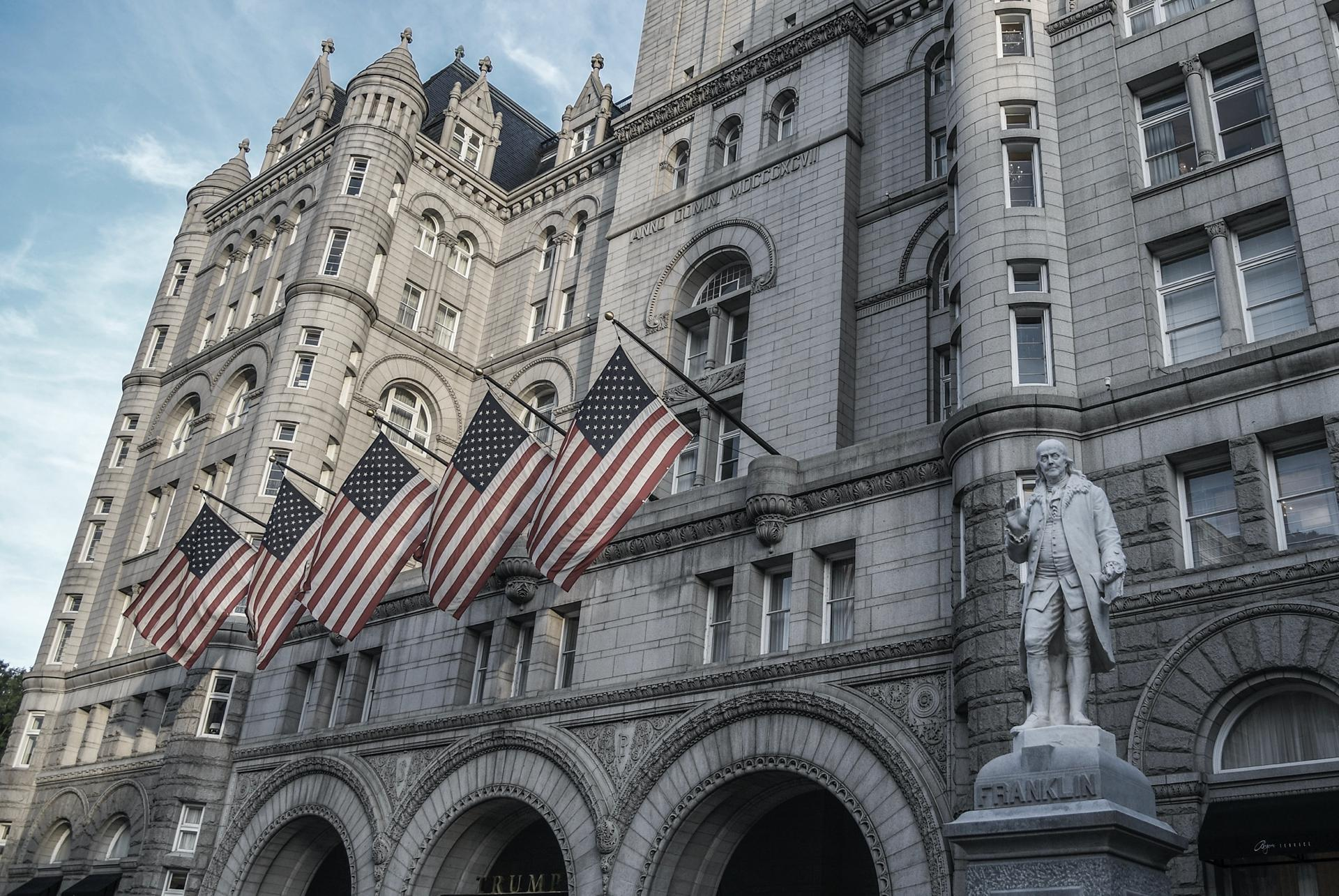 The Trump International Hotel located at 1100 Pennsylvania Ave, NW.
