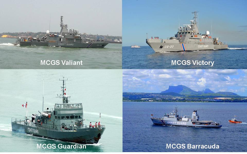 Mauritius Coastguard four 'Fast Attack Vessels' provided by the Indian Government