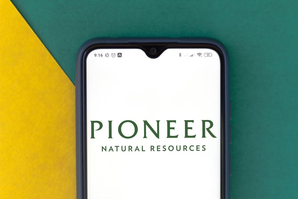 In this photo illustration the Pioneer Natural Resources...