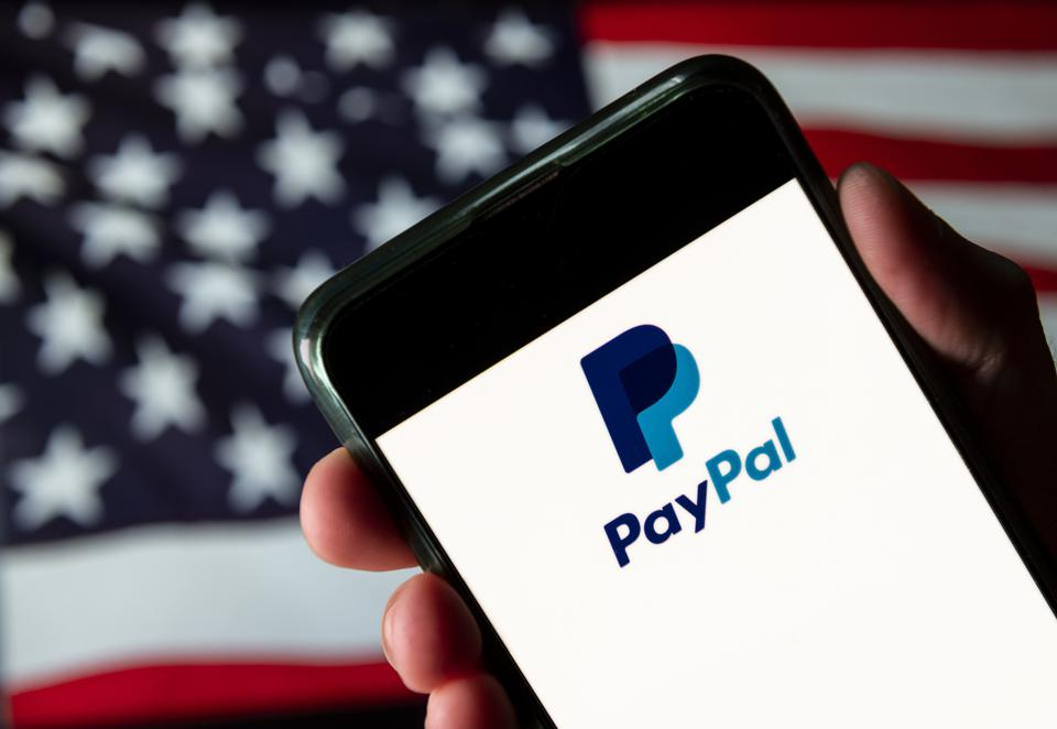 In this photo illustration the American online payment...