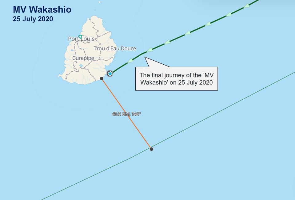 Vessels like the Wakashio should stay at least 40 Nautical Miles from the coast of Mauritius