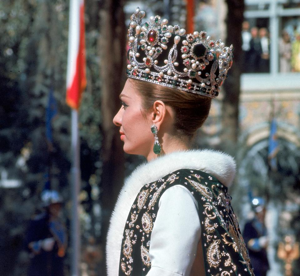 Empress Farah and her crown jewels