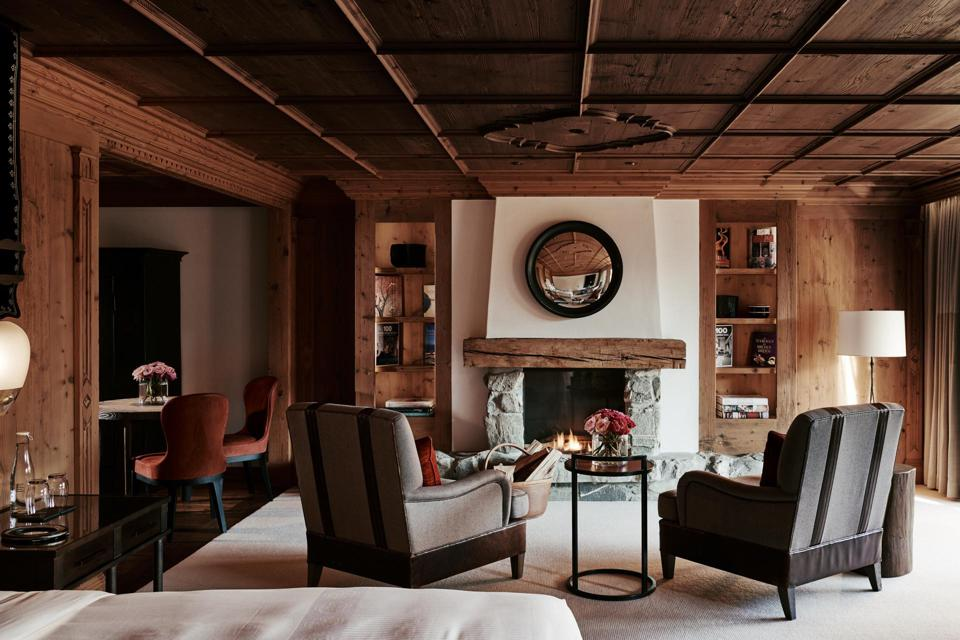 A room at The Alpina Gstaad is not just another hotel room