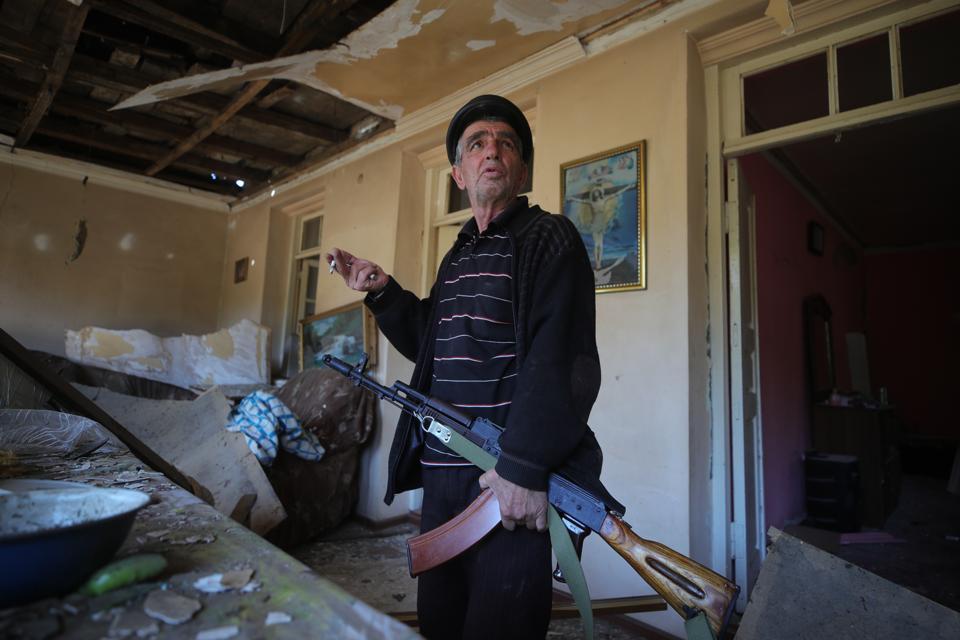 Shosh, Nagorno-Karabakh, in aftermath of night shelling attack