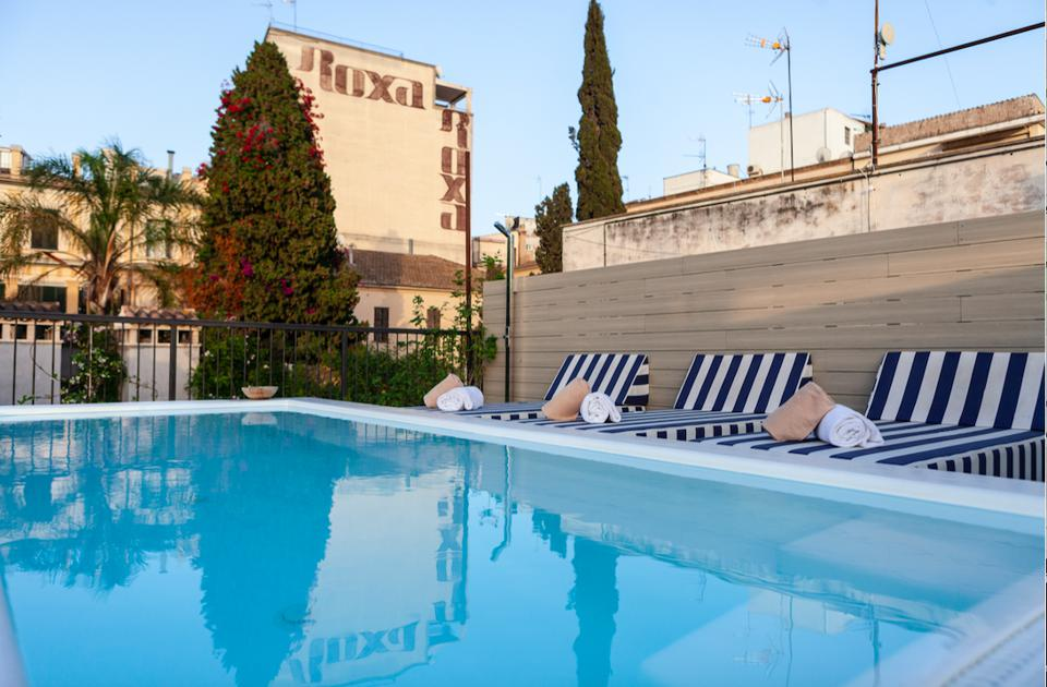 Rooftop pool at Mhouse Hotel in Palma de mallorca spain