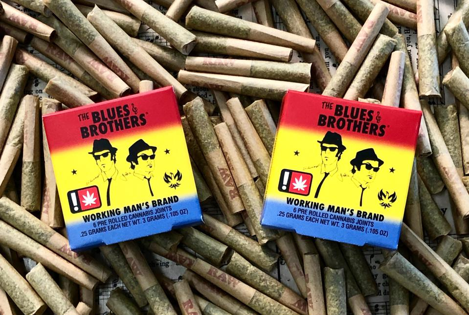 Blues Brothers Pre-Rolls are grown by Jim Belushi's Oregon-based cannabis company Belushi's Farm.