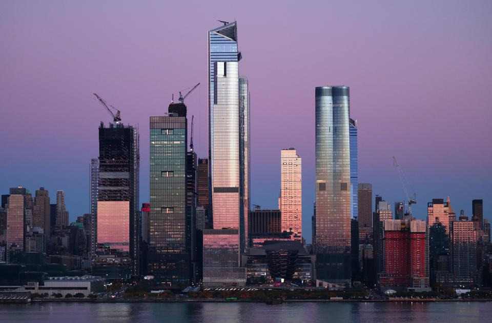 Midtown Manhattan Skyline at Sunset in New York City