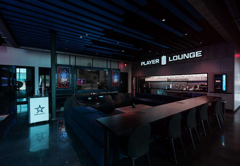 The Miller Lite Player Lounge at Complexity HQ.