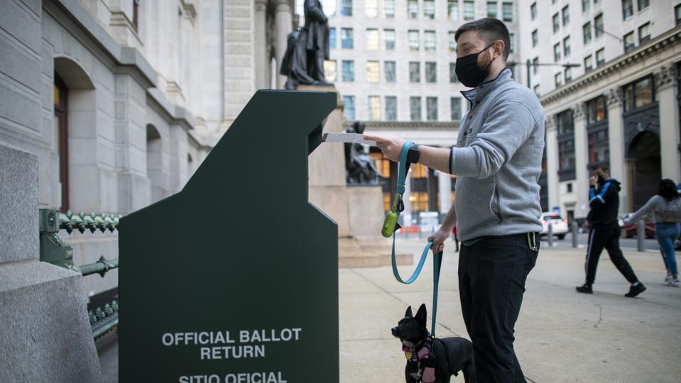 Mail-in Ballot drop box In Philadelphia