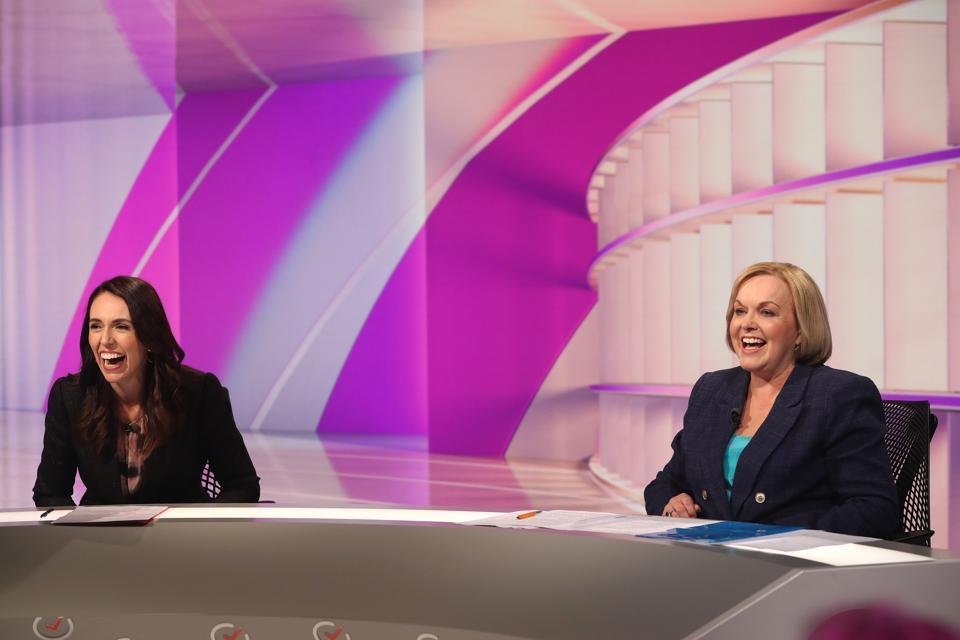 Jacinda Ardern And Judith Collins Take Part In The TVNZ Vote 2020 Final Leaders' Debate