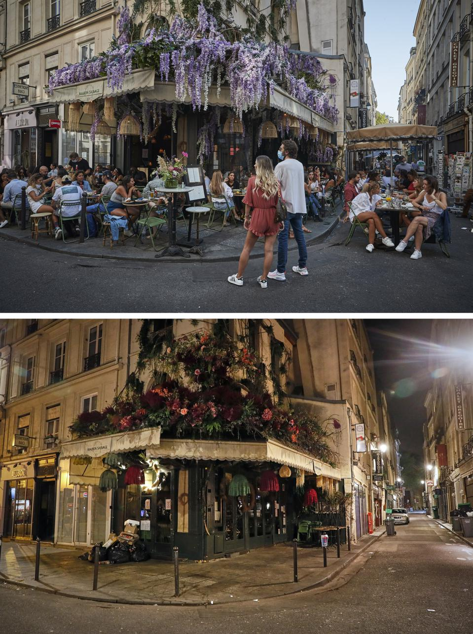 Before And After: Paris Amid Coronavirus Curfew