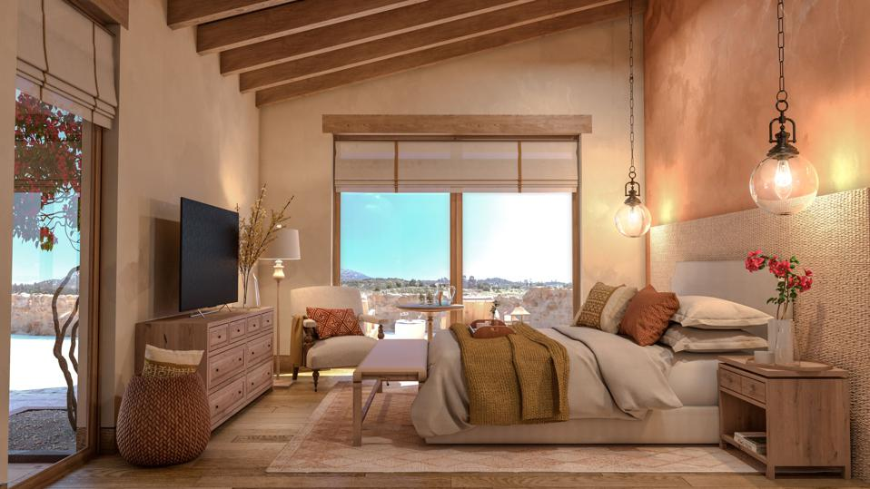 Bedroom at Rancho La Puerta Residences