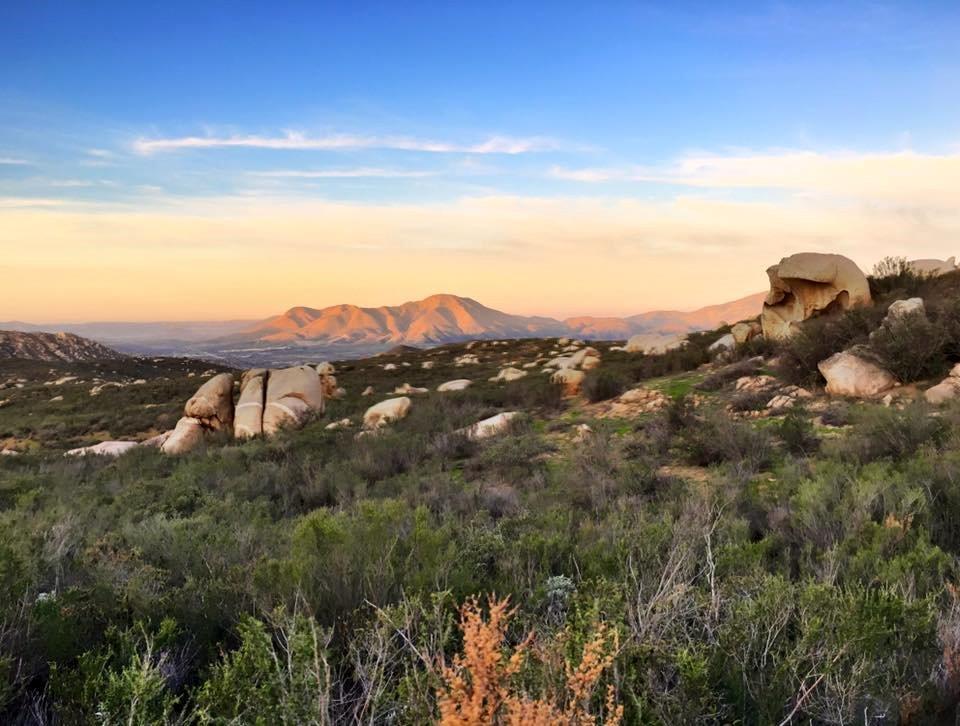 Mountains of Baja surrounding Rancho La Puerta