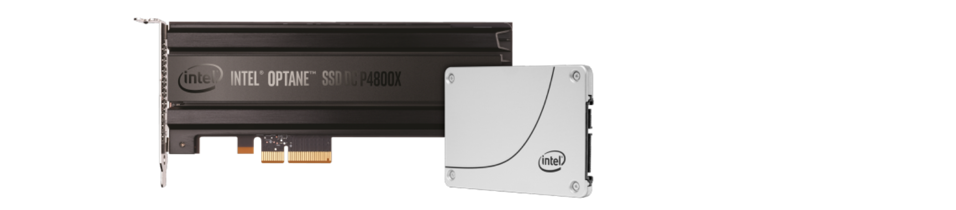 showing intel's NAND flash and an Octane SSD