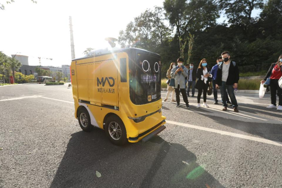 Automated guided vehicles are now often trialled within coordinated sites in China.