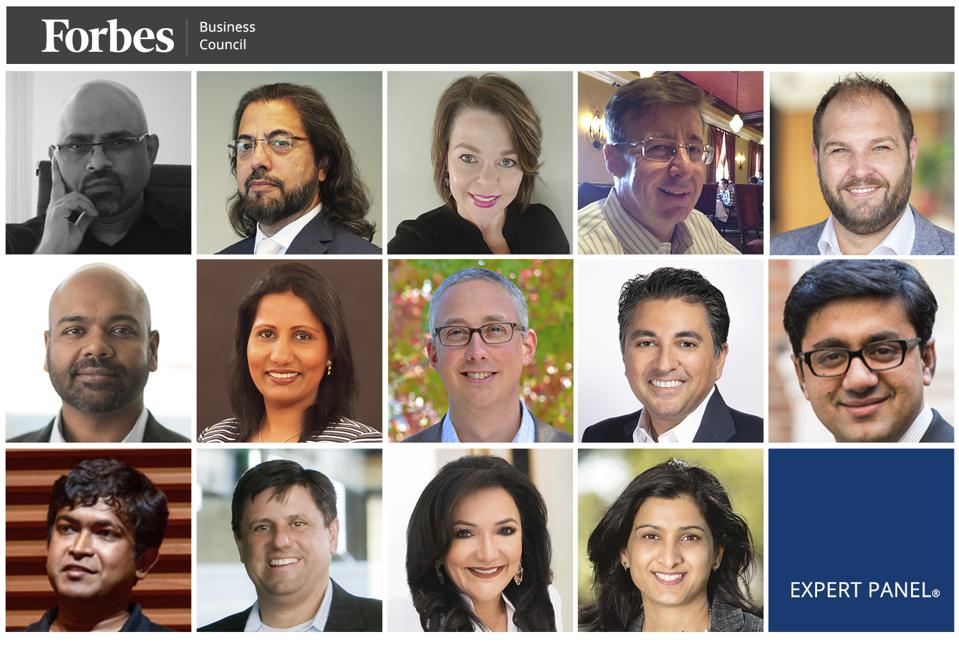 Photos of featured Forbes Technology Council members.