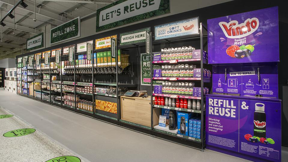 There are 15 stations offering more than 30 household staples in a refillable format.