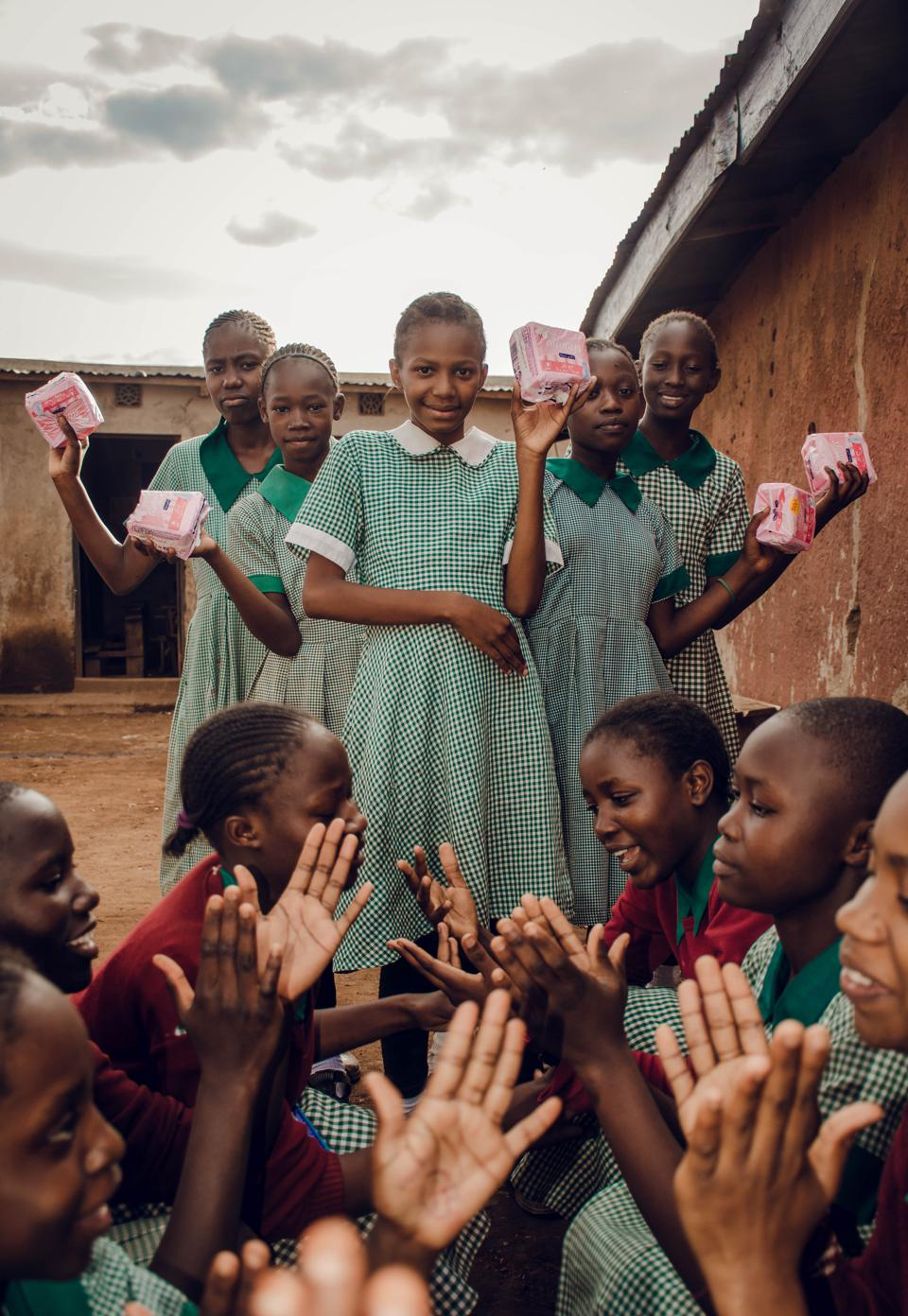 The World We Want, global photo contest school girls at patio in Kenya,