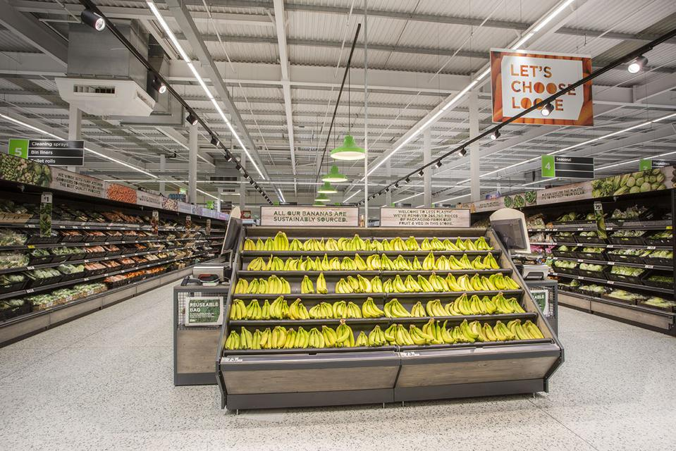 Bananas sold loose are one of 53 lines that Asda sells unwrapped.