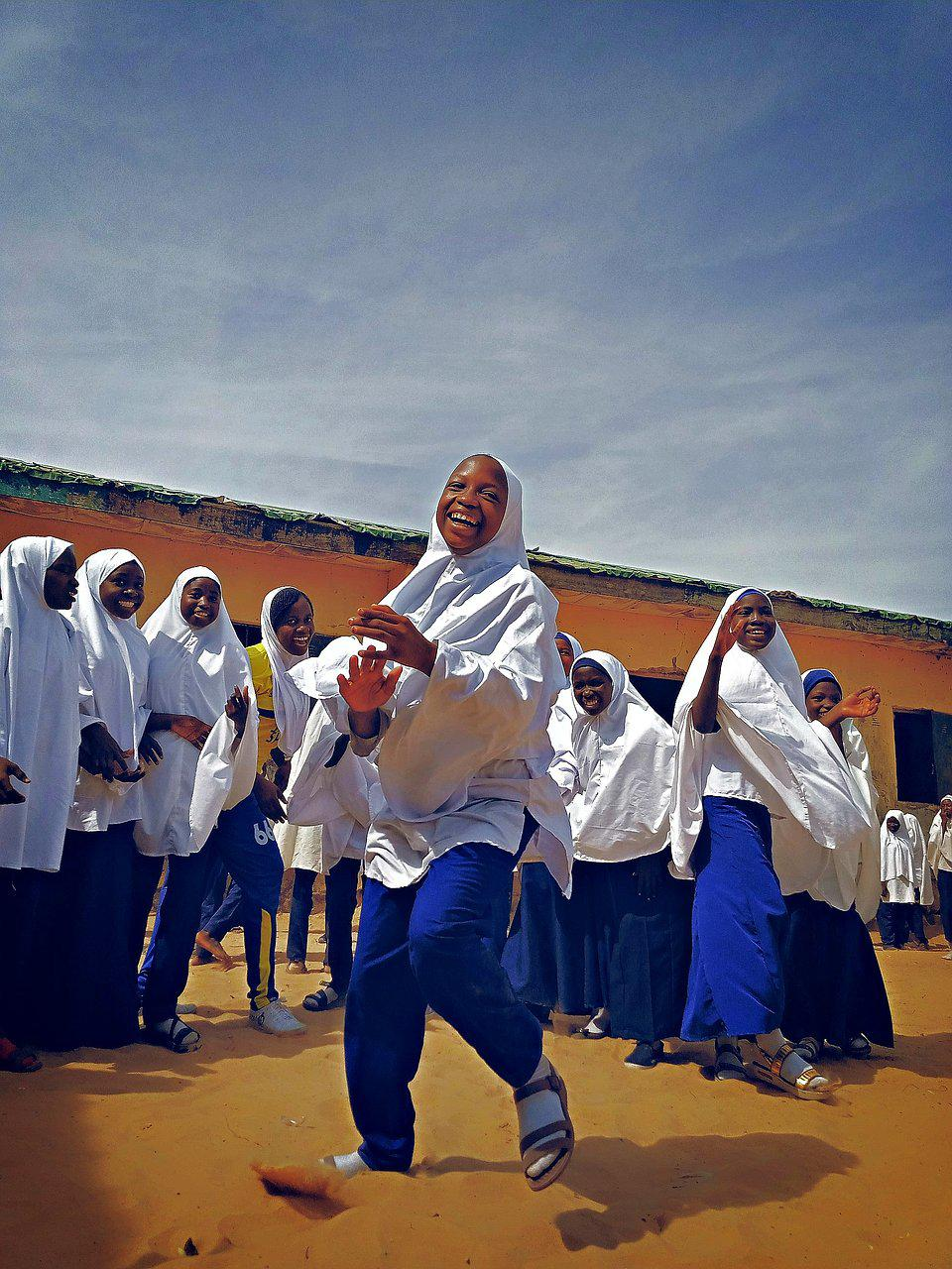 The World We Want, global photo contest: girls playing at a school in Nigeria