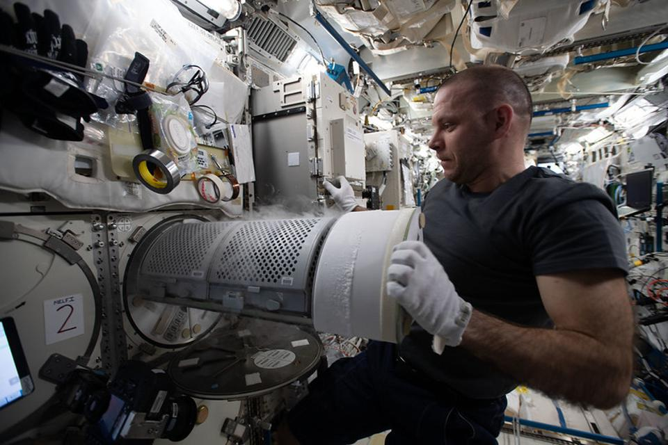 Ivan Vagner on the ISS