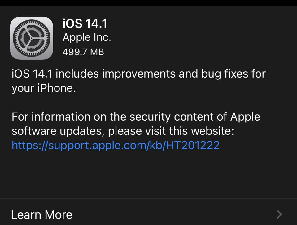 iOS 14.1 has landed, with big news for HomePod.