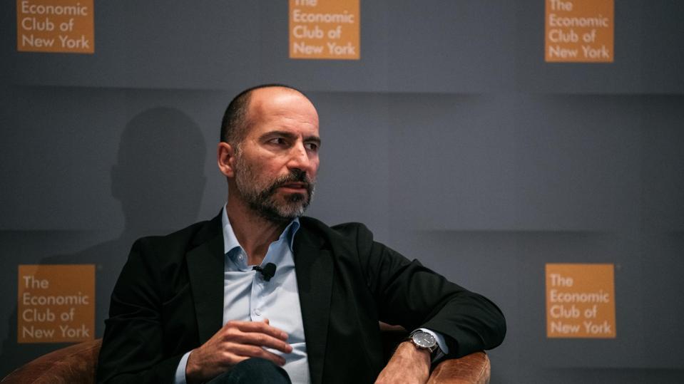 Uber CEO Dara Khosrowshahi Speaks At The Economic Club Of New York