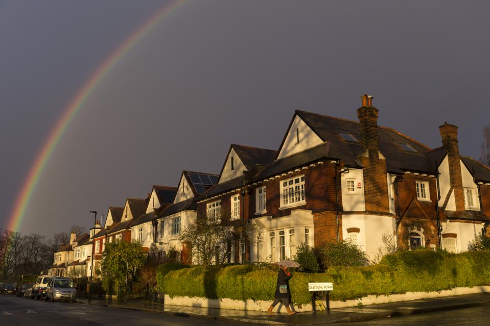 Rainbow Over Homes in London
