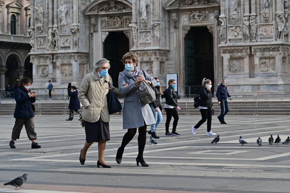 Lombardy, capital Milan, imposes night curfew to curb the rising coronavirus cases.