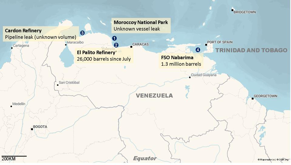 The FSO Nabarima represents the fourth major oil spill from Venezuela in 2020, in addition to the major oil spill off the coast of Brazil in 2019 from a leaking ship