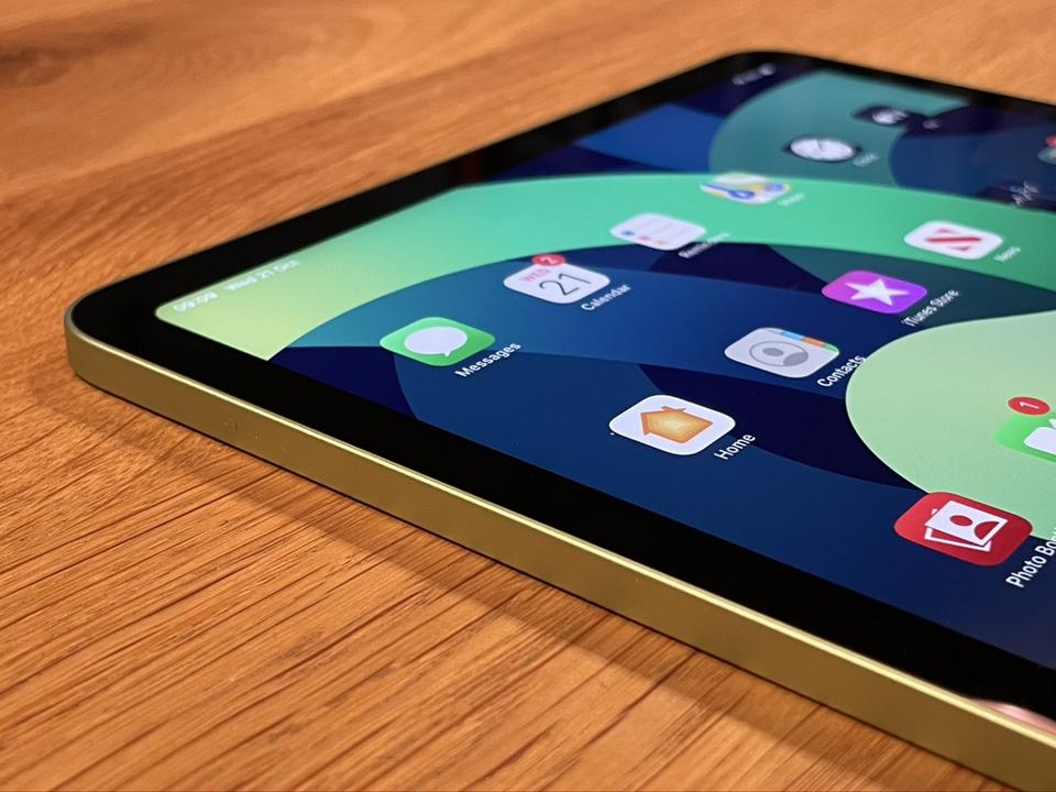 Apple iPad Air in gorgeous green finish.