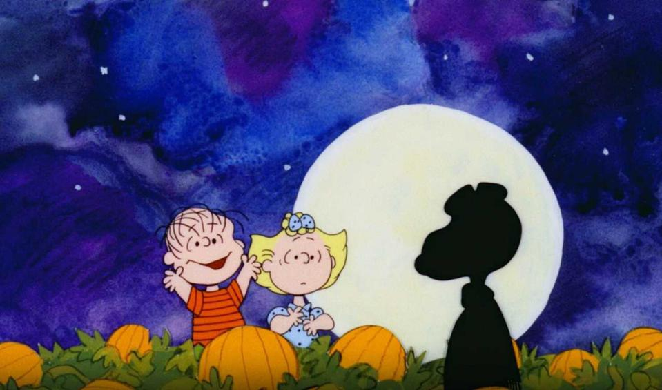 image shows lucy and sally in it's the great pumpkin charlie brown