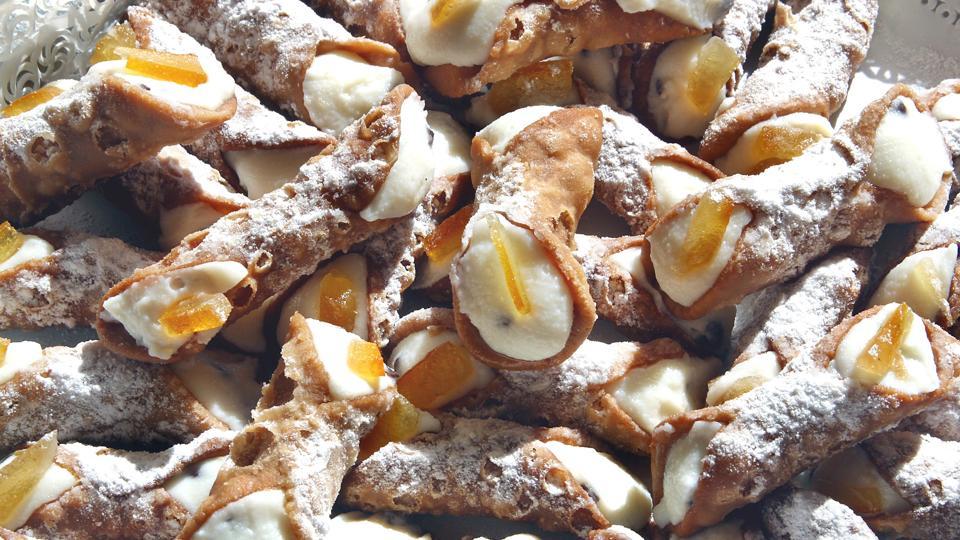 Sicilian cannoli. Trapani. Sicily. Italy