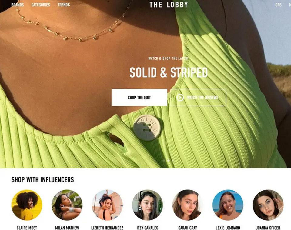 online shopping with influencers
