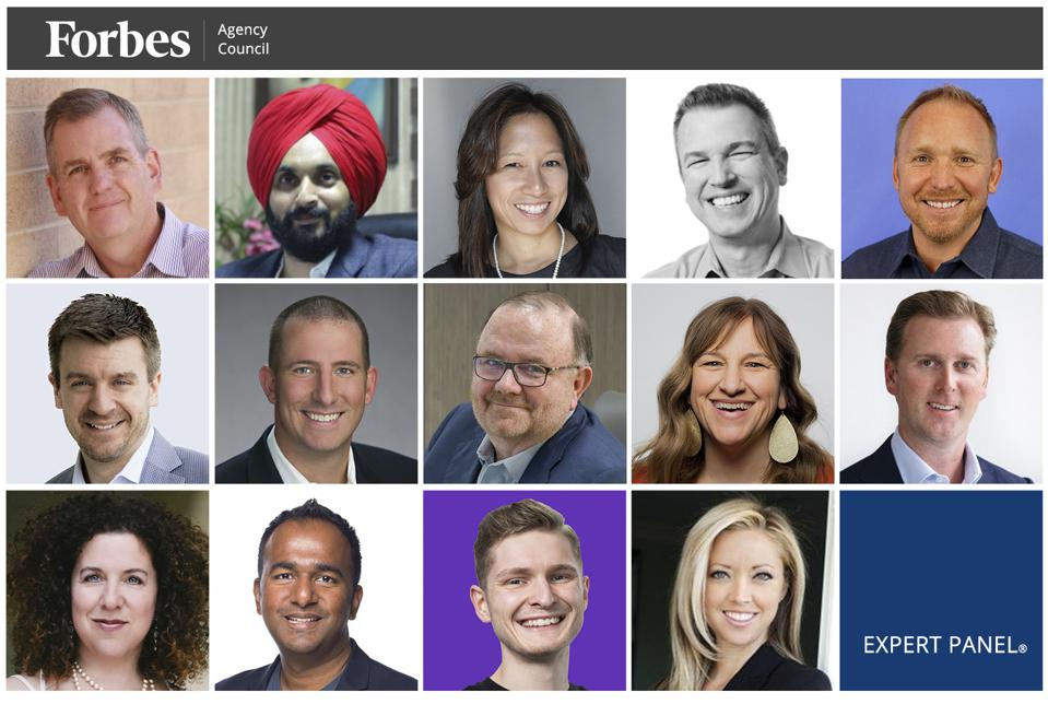 Photos of featured Forbes Agency Council members.