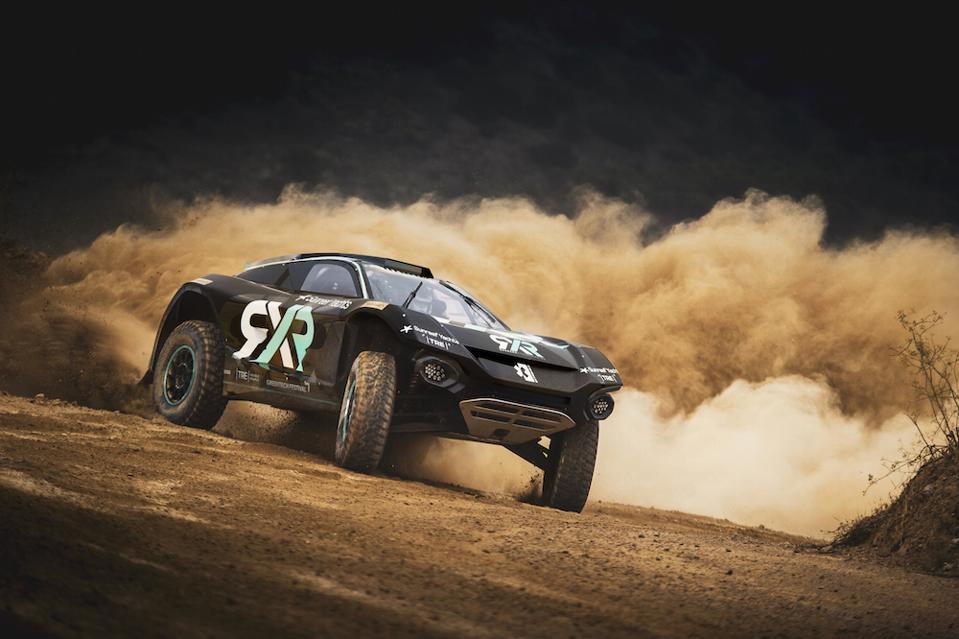 The circuit runs 550 horsepower electric SUVs.