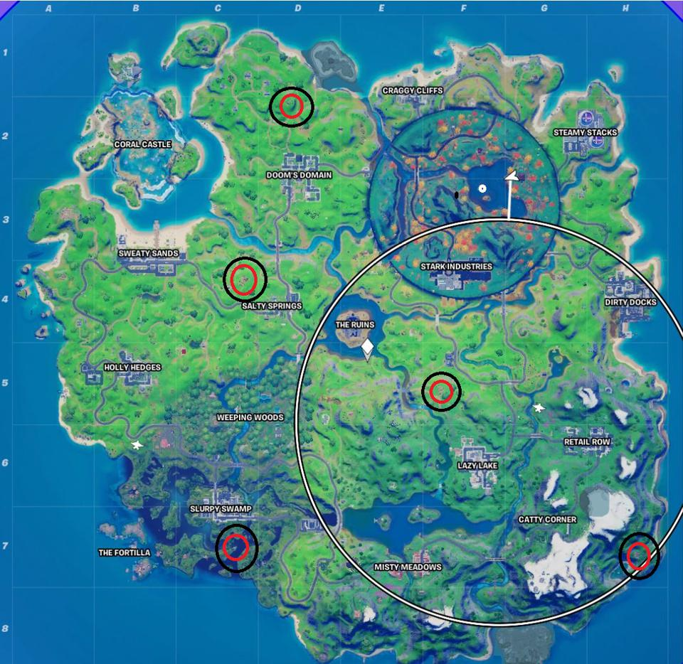 Witch shack locations