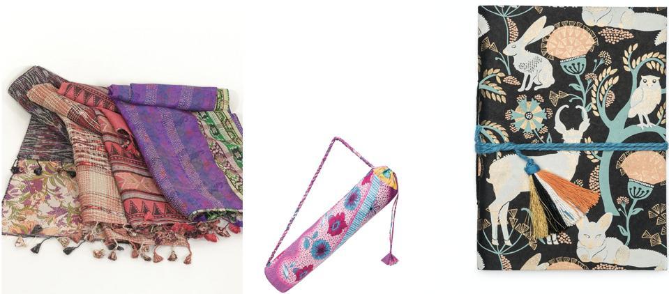 scarves - sari bag - journal