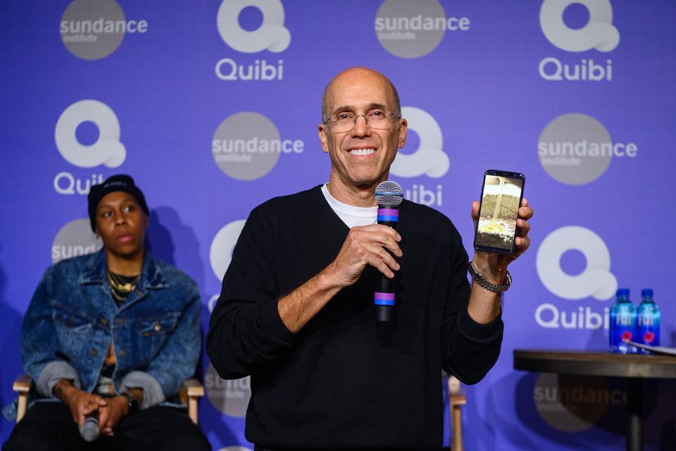 A Conversation With Quibi's Founder Jeffrey Katzenberg And Quibi Creators Lena Waithe, Veena Sud, And Kaitlin Olson At Sundance 2020