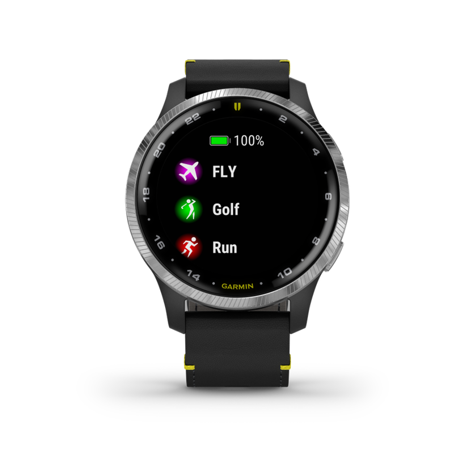 A range of activity-monitoring apps are part of the D2 Air's content.