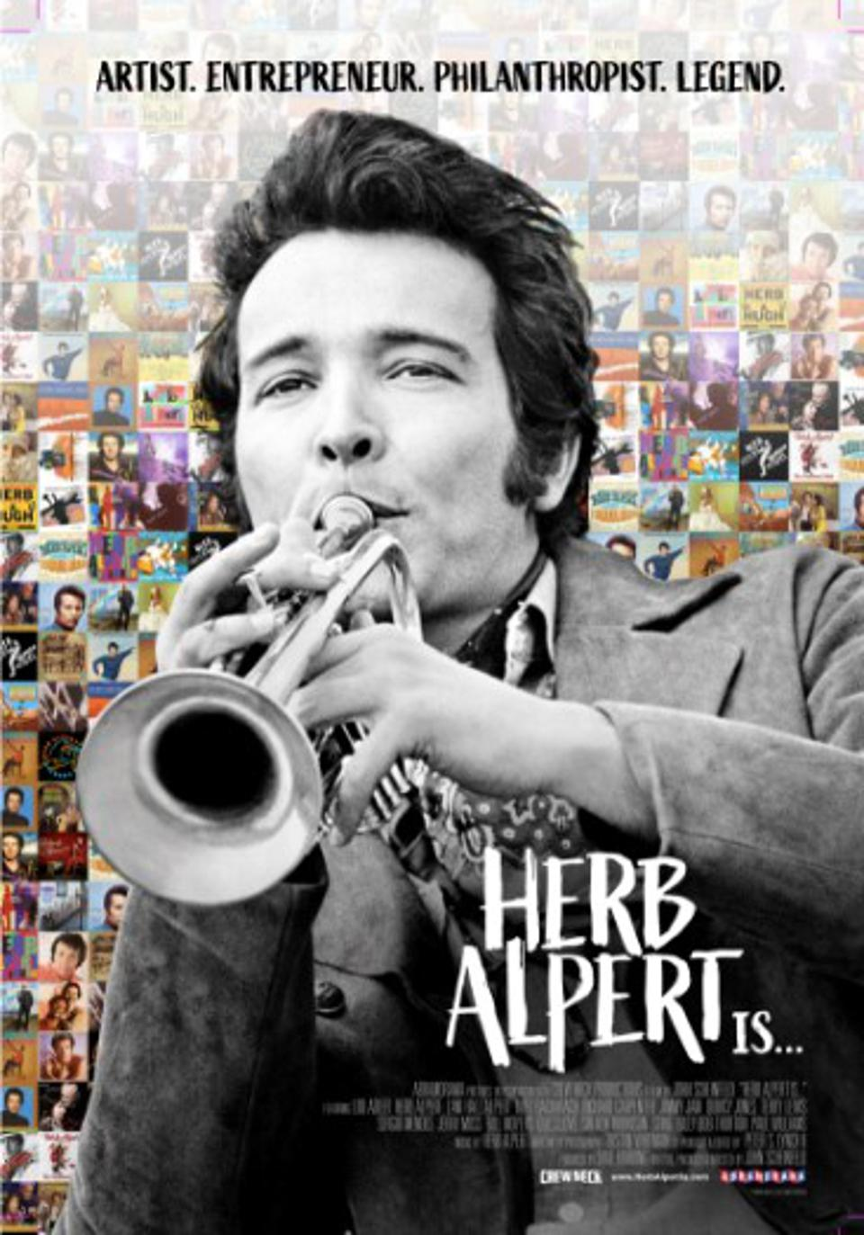 Poster for documentary about Herb Alpert