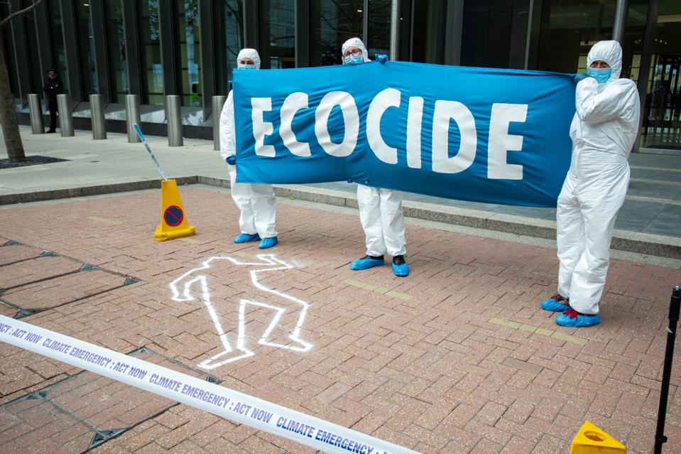 6 July 2020: Extinction Rebellion's protests outside Barclays, as part of a campaign to denounce the finance industry's role in funding carbon-intensive industries