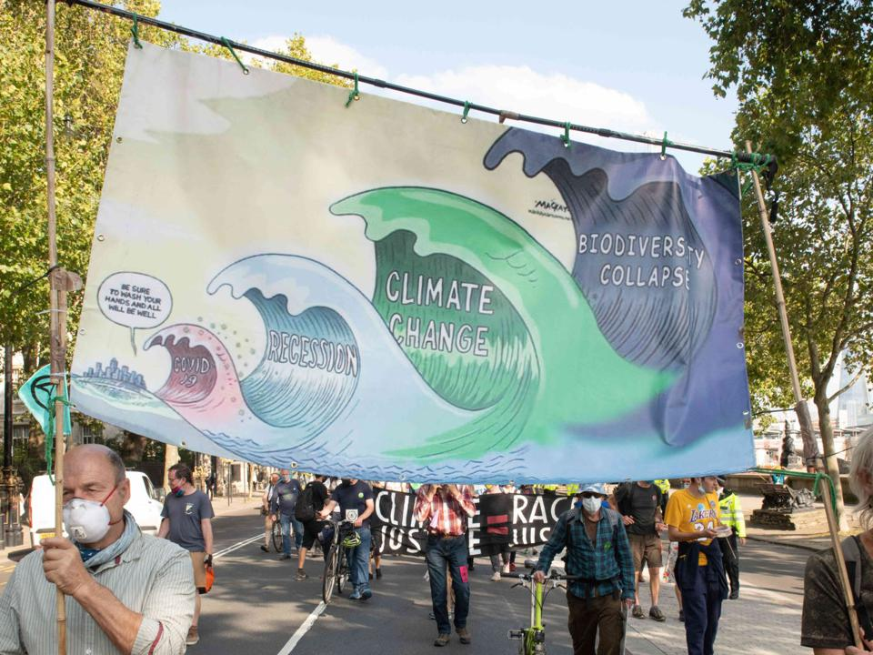10 Sep 2020: protests highlight the systemic and cascading risks from the environmental collapse of the planet that industry has not been taking seriously enough