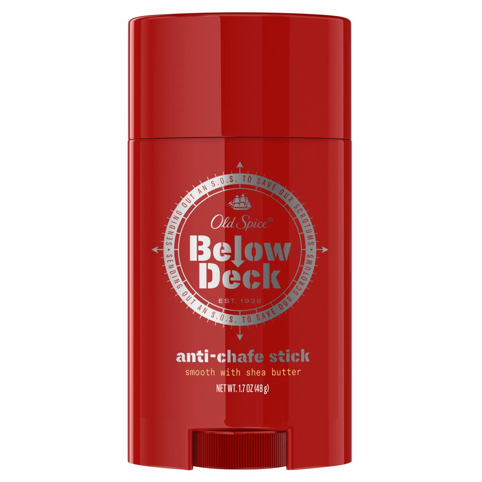 Below Deck Anti-Chafe Stick with Shea Butter keeps you chafe-free without any mess