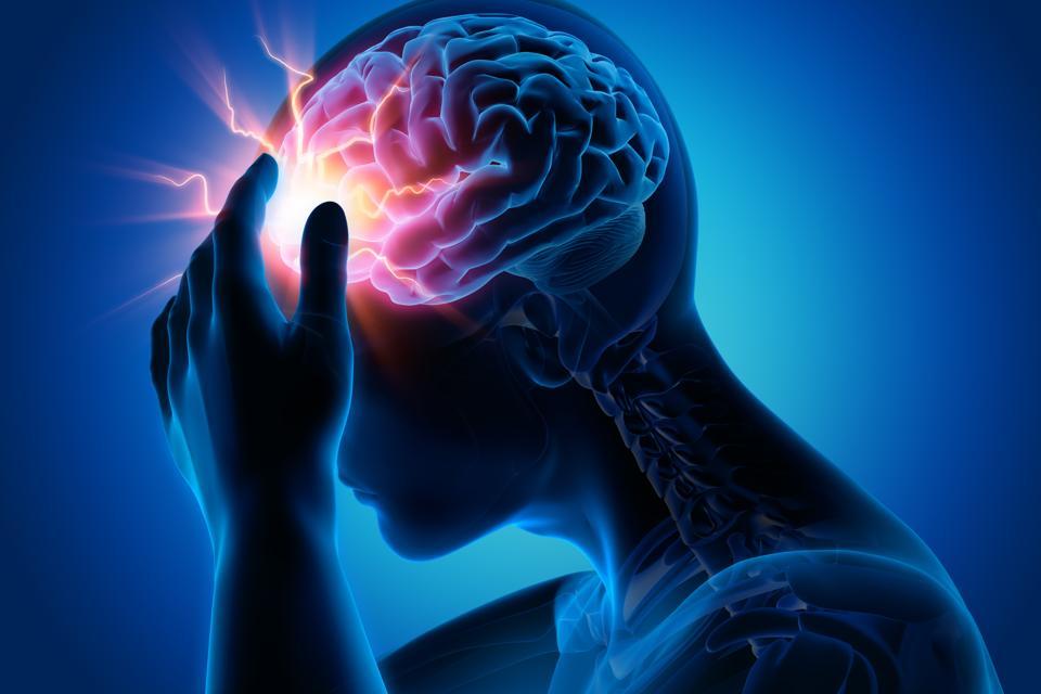 Digital image of a headache