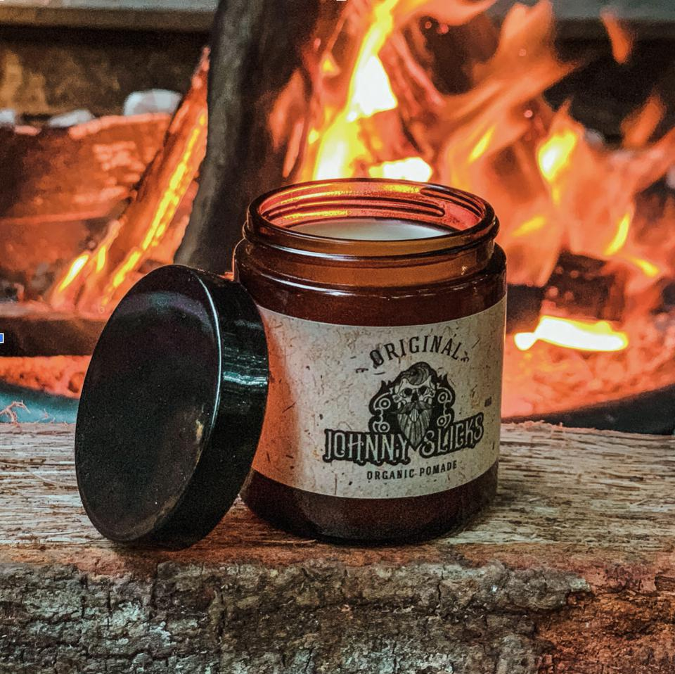 One jar of the Oil-Based Organic Pomade by the premier organic grooming brand, Johnny Slicks