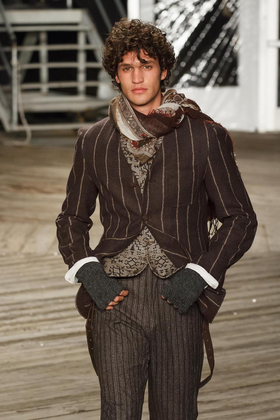 Willy Chaarria and Joseph Abboud model runway