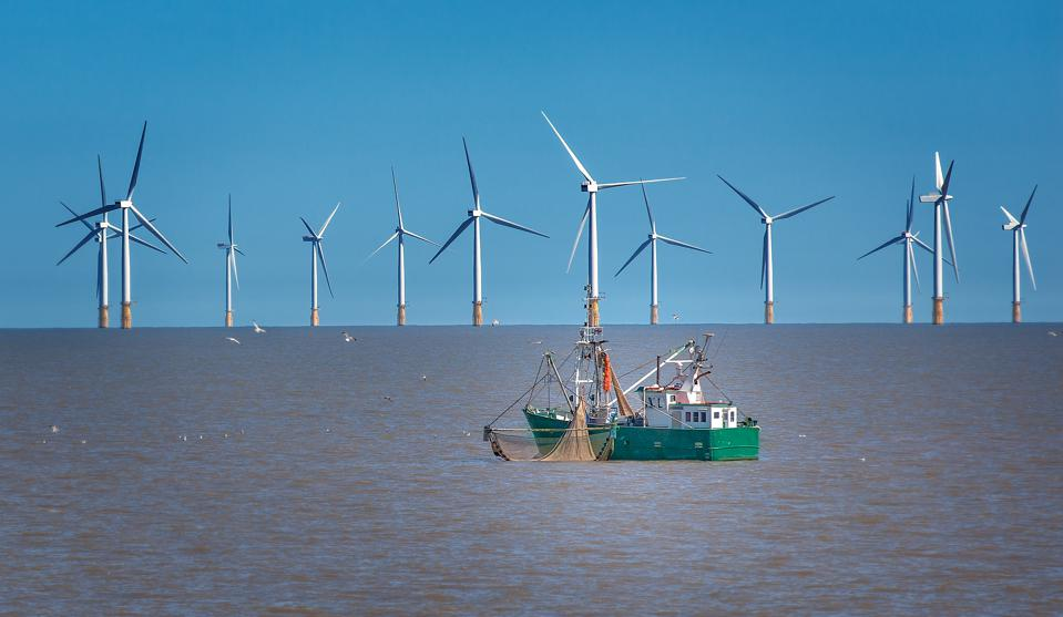 An offshore wind farm in New Jersey, United States